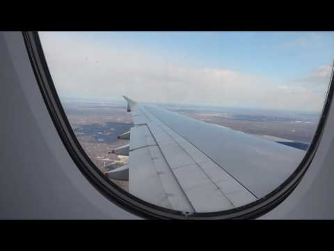 Airbus A380 takeoff from LHR and landing at IAD 13/02/16