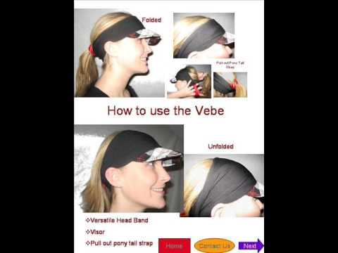 Visor and Head Band and Ponytail Strap - YouTube c519c2e4831