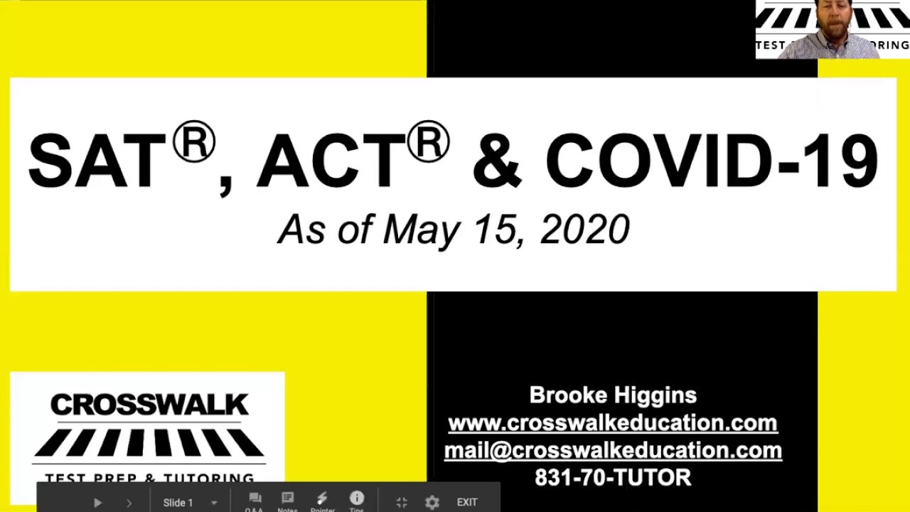 ACT, SAT & COVID-19: Answers, Plans & Next Steps