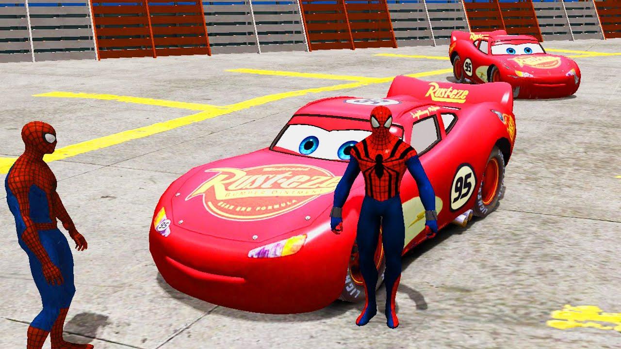 Невероятный Халк и человек паук Спайдермен, гонка на ...