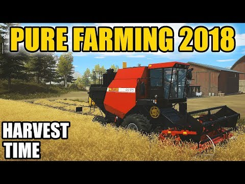 PURE FARMING 2018 | GETTING OUT THE COMBINE FOR WHEAT HARVEST & FIRST THOUGHTS!