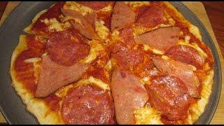 Pizza de salami y jamón – Cocina con Jassy