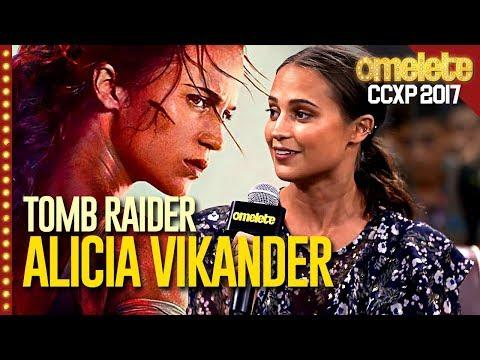O MUNDO PRECISA DE TOMB RAIDER com Alicia Vikander   CCXP 17