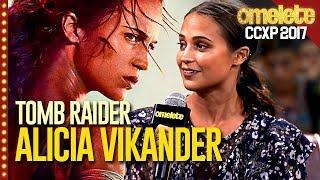 O MUNDO PRECISA DE TOMB RAIDER (com Alicia Vikander) |  CCXP 17