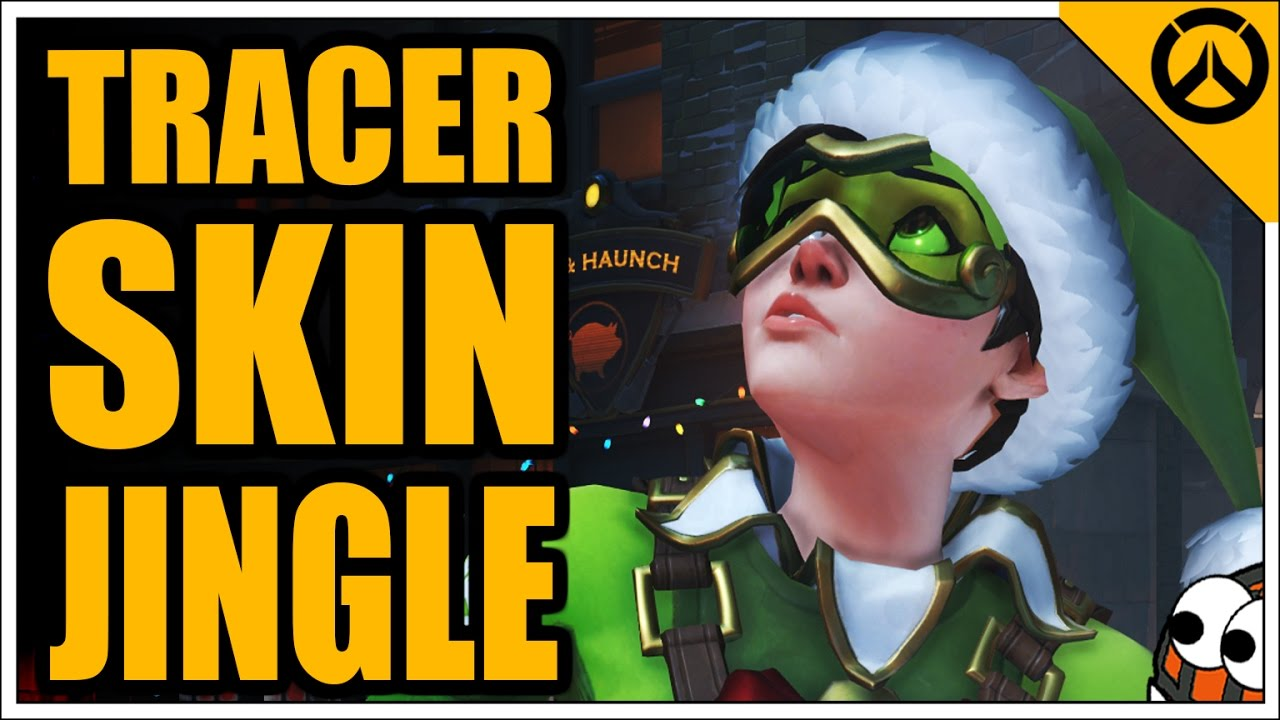 Tracer Christmas Skin.Tracer Jingle Skin Christmas Event All Highlight Intros Emotes Victory Poses Golden Gun