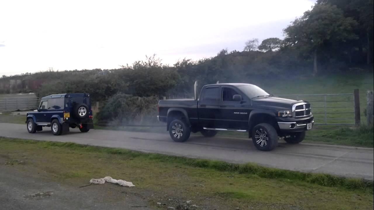 Dodge Ram Cummins Vs Landrover Deffender 90 Youtube