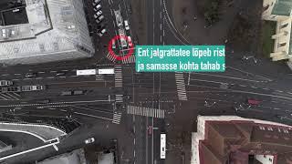 Jalgrattaga Tallinnas: Kaarli pst-Pärnu mnt-Estonia pst ristmik thumbnail