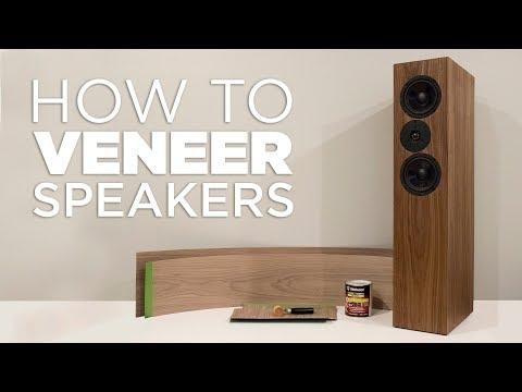 How to Apply Wood Veneer to MDF Speakers