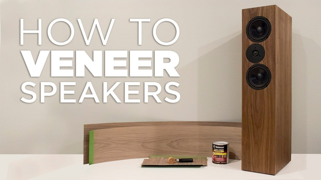 How To Apply Wood Veneer To Mdf Speakers