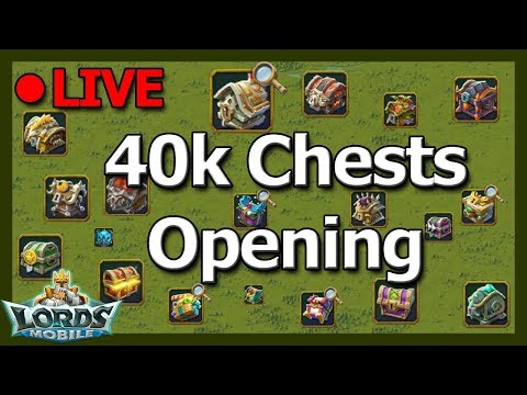 2 GOLD MANES down. 40k Chests and Chill - LOTS OF FUN GUESTS! - Lords Mobile