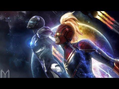 아이언맨을 구하러 우주로 향하고 있는 히어로들