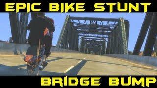 GTA 4 - Epic Bike Stunt Bridge Bump