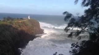Kauai #BIGWEDNESDAY Jan. 22 2014 Kilauea Lighthouse big waves rolling in