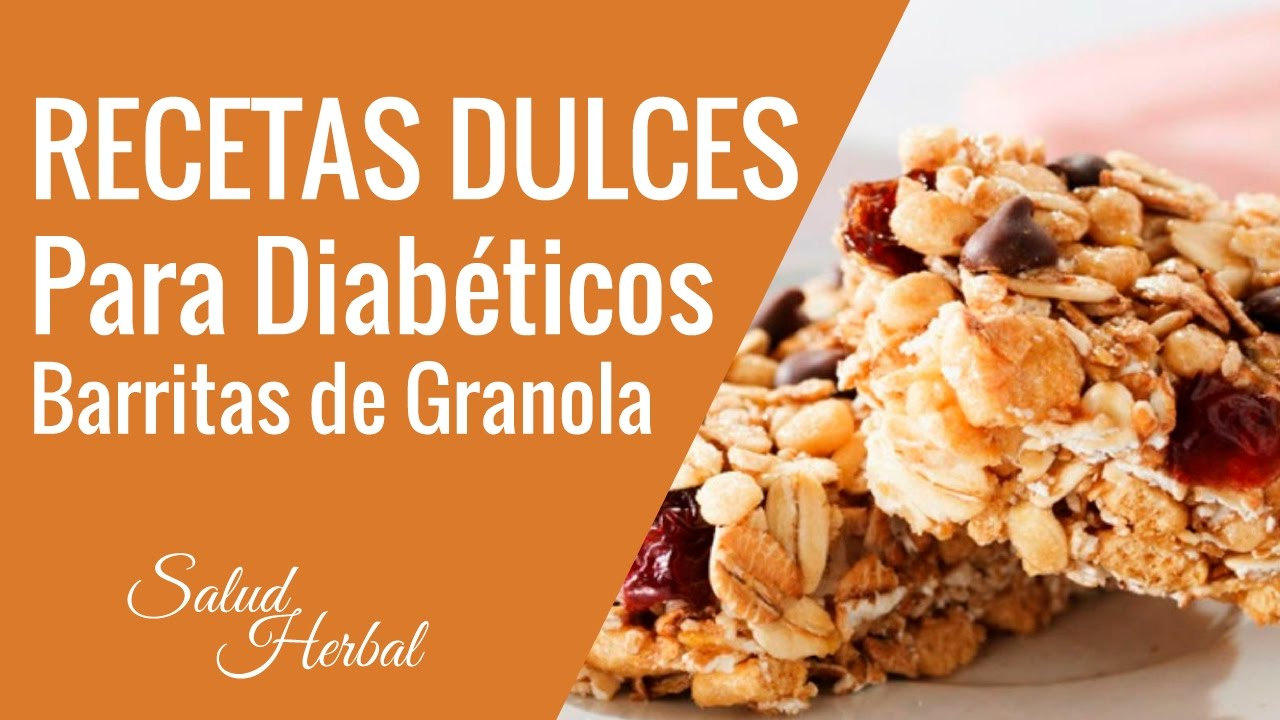 Recetas Dulces Para Diabeticos | Barritas De Granola