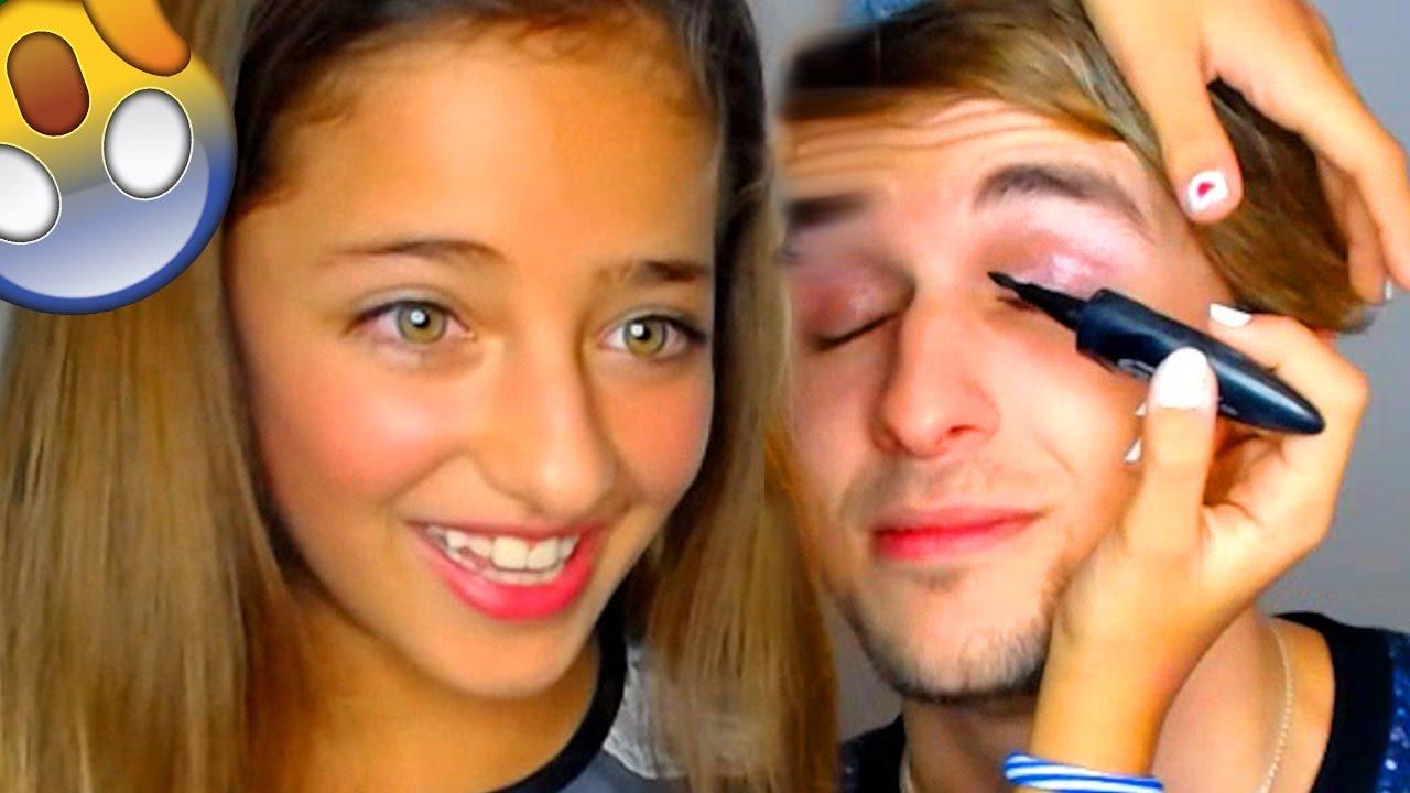mi hermana de 10 años me maquilla o youtube