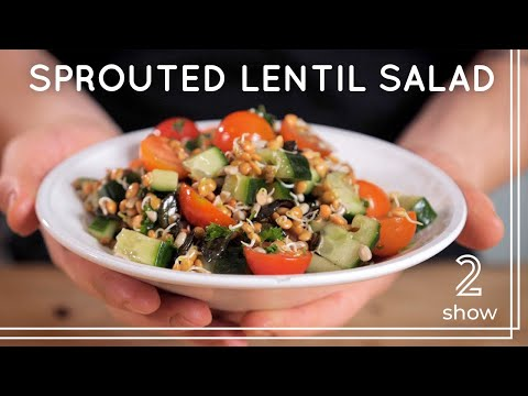 Sprouted Lentil Salad | High Protein Vegan Recipe