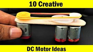 10 DC Motor Creative DIY Ideas - Compilation