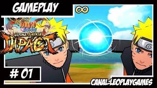Naruto Shippuden: Ultimate Ninja Impact GamePlay #1 Primeira vez jogando [PSP] 【Full HD 60 FPS】