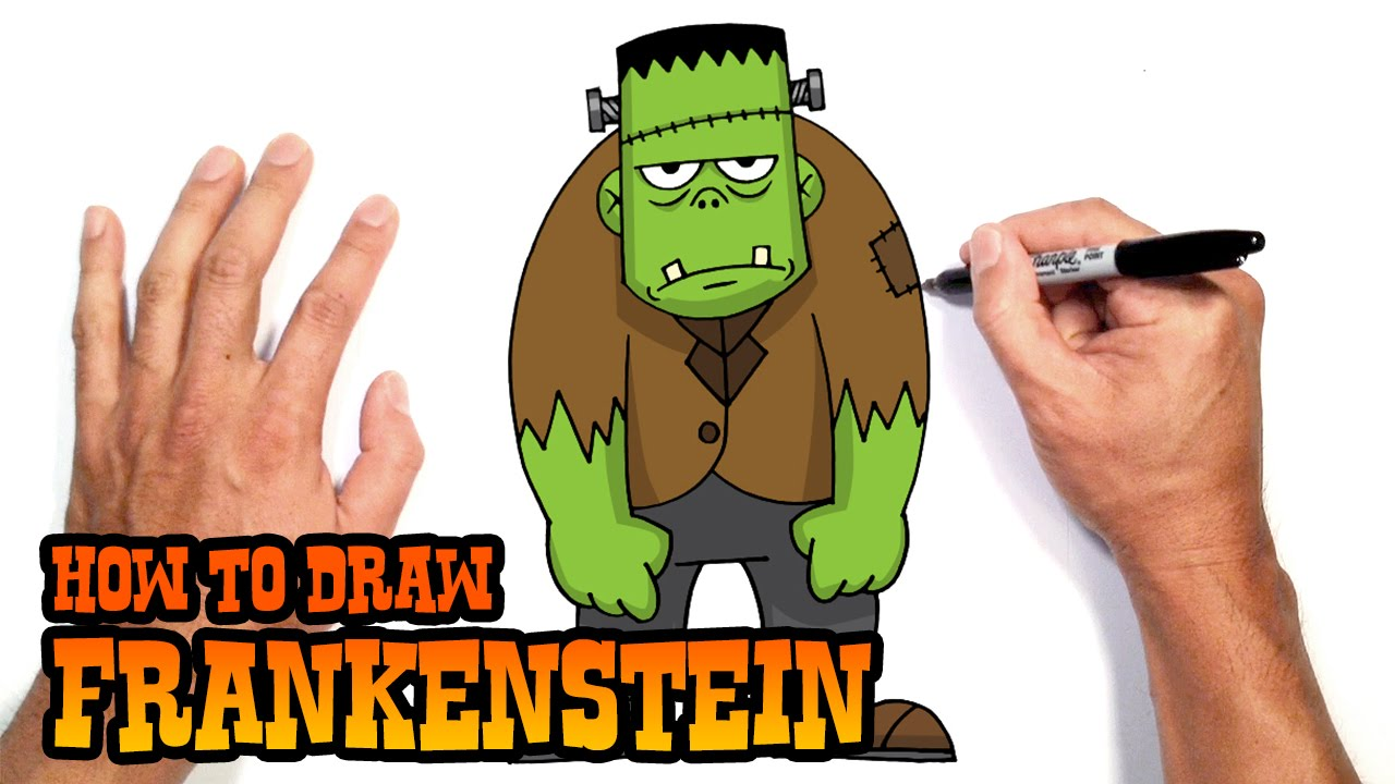 how to draw frankenstein drawing lesson youtube - Simple Halloween Drawings