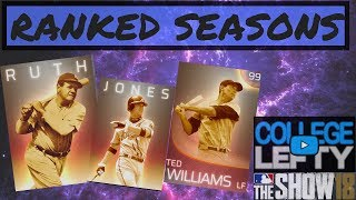 RANKED SEASONS RATING: 875!! PUSH FOR WORLD SERIES!! MLB THE SHOW 18