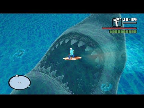 Encontre al Megalodon en GTA San Andreas y Esto Sucedio !