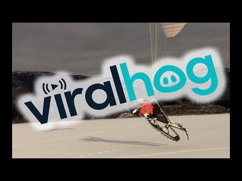 Anti Gravity Snowmobile || ViralHog