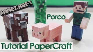 Tutorial PaperCraft Minecraft - Porco