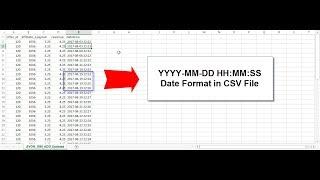 Excel | CSV Dosyası SS kalmaz HH MM DD YYYY Tarih biçimi-MM -: -