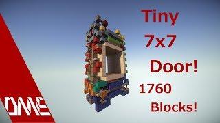 tiny 7x7 piston door setup size 1760 blocks in total showcase