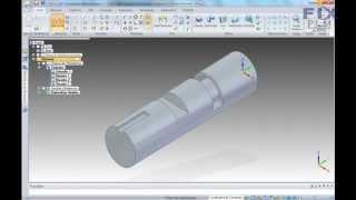 Corte em peça cilíndrica Solid EDGE ST4