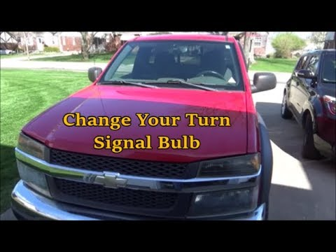 Chevy Colorado How To Change The Front Turn Signal Bulb