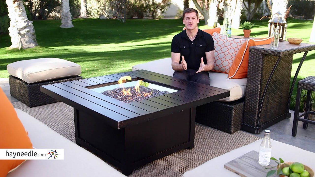 Napoleon Square Propane Fire Pit Table Product Review Video
