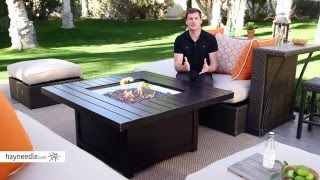 Napoleon Square Propane Fire Pit Table Product Review Video Youtube