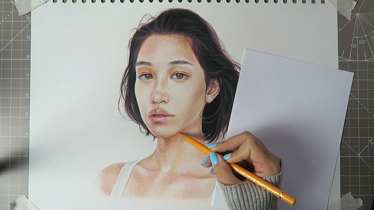 Colouring tutorial timelapse🌈 faber castell polychromos pencils 24 set