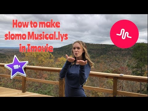 How To Make Slomo Musical.lys In IMovie