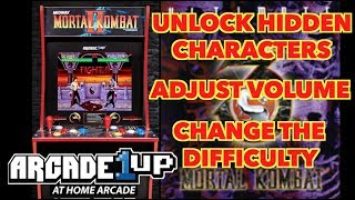 Unlock hidden characters, adjust the difficulty & volume using EJB Menu! | UMK3 Arcade1Up