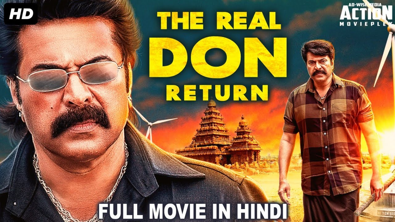 Download THE REAL DON RETURN - Superhit Blockbuster Hindi Dubbed Full Action Romantic Movie   Mammootty Movie