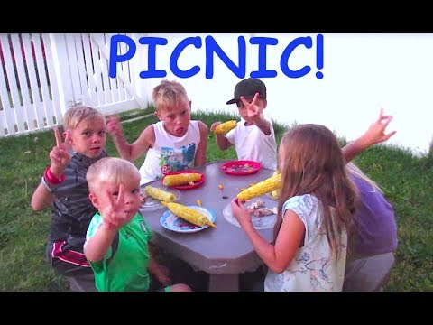 🍉Kids PICNIC outside with Cousins!🍰