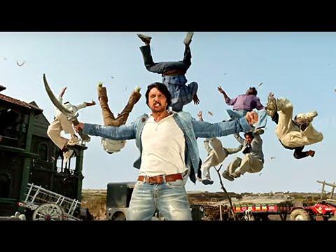 Super Hit Fighting Scene - Maanikya - Kicha, Ranya Rao - Climax Fighting Scene