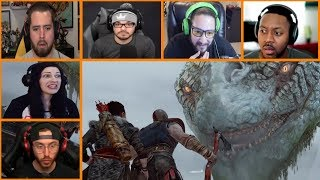Let's Players Reaction To Meeting The World Serpent | God Of War (PS4)