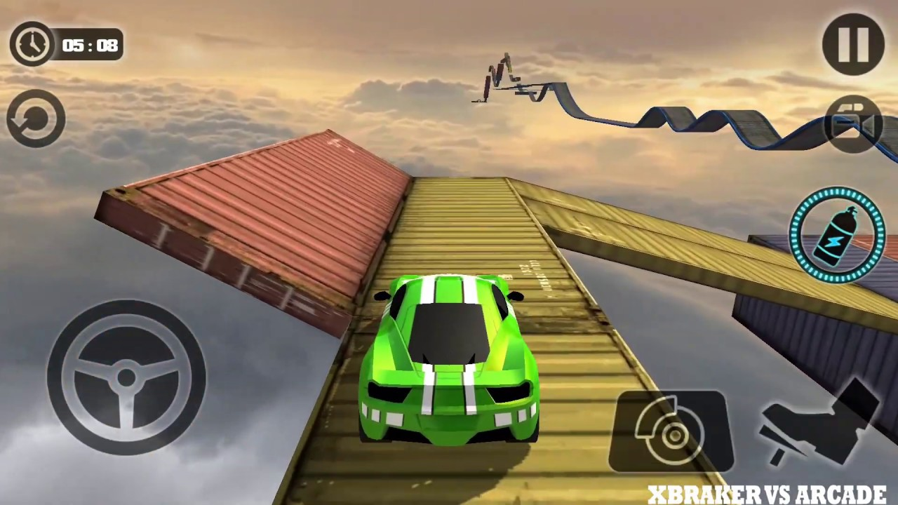 Impossible Stunt Car Tracks 3D: Green Car Unlocked Driving Stunts Levels 14 & 15 - Android GameP