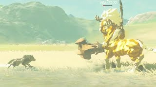 Breath of the Wild: Gold Lynel vs Wolf