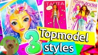 Top Model Fantasy   3 projetky Fantasy Look   kolorowanie wyklejanie