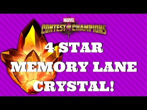 4* MEMORY LANE CRYSTAL! 4* CRYSTAL! NOSTALGIA CRYSTAL! | Marvel Contest of Champions