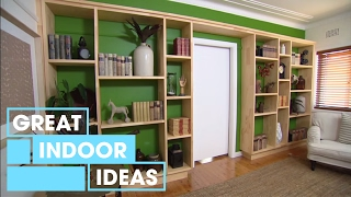 This week Adam shows us how to add some storage and style into your room with a feature wall – of shelves! This easy DIY project