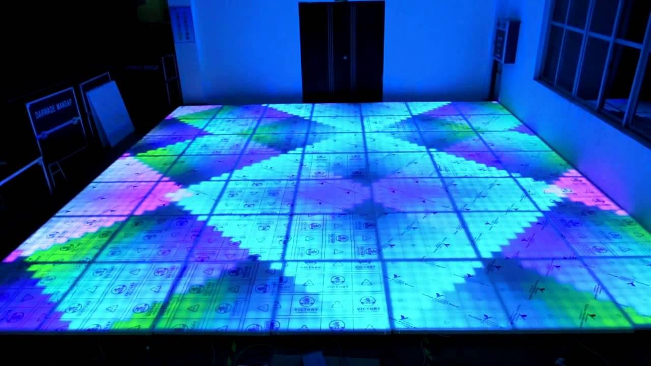 DMX Colorful Digital Lighted Led Dance Floor For Disco - YouTube