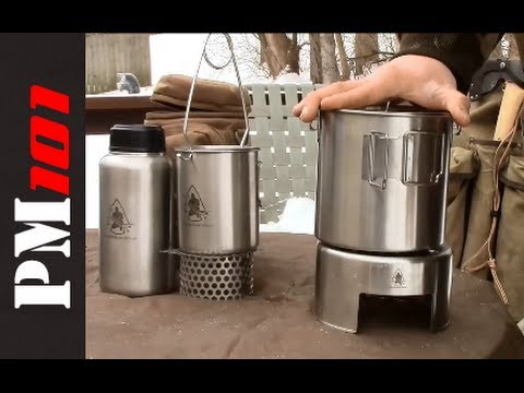 Pathfinder Stainless Steel Canteen, Bottle Kit, Bush Pot   - Preparedmind101
