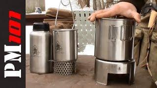 Pathfinder Stainless Steel Canteen, Bottle Kit, Bush Pot   - Preparedmind101