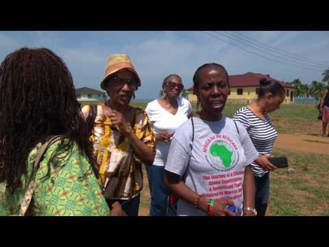 Mama Zulu Land Presentation on Elmina Beach - Ghana May 2017