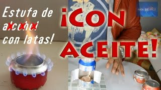 Nueva estufa casera con latas sin alcohol! mini estufa y portatil! |NQUEH
